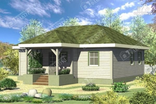Фото: проект одноэтажный брусовой дом