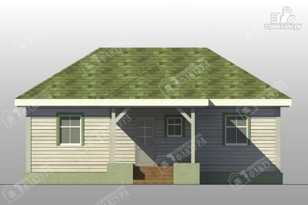 Фото 3: проект одноэтажный брусовой дом