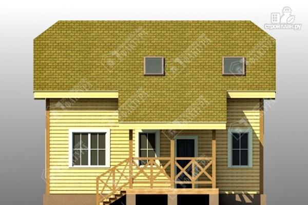 Фото 4: проект двухэтажный дом из пиленного бруса с мансардой