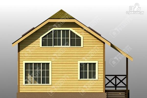 Фото 7: проект двухэтажный дом из пиленного бруса с мансардой