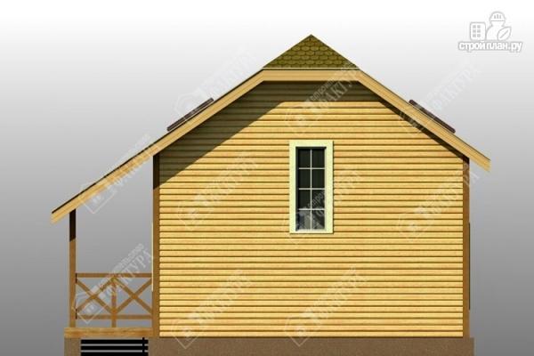 Фото 5: проект двухэтажный дом из пиленного бруса с мансардой