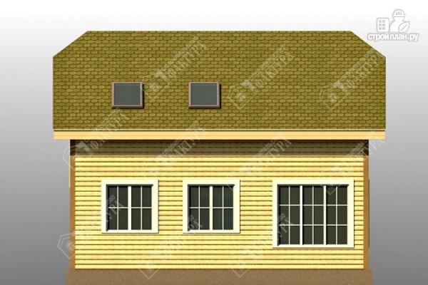 Фото 6: проект двухэтажный дом из пиленного бруса с мансардой