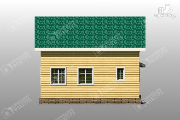 Фото 7: проект дом 8х8 из бруса с балконом