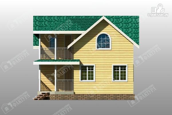 Фото 6: проект дом 8х8 из бруса с балконом