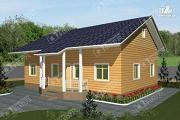 Фото: одноэтажный дом из пиленного бруса