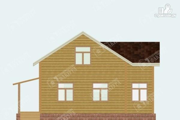 Фото 4: проект брусовой дом с мансардой
