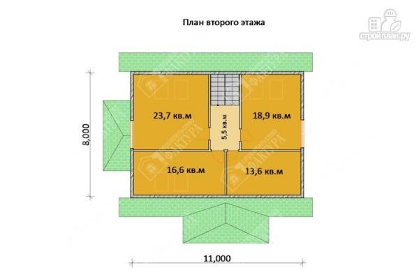 Фото 3: проект дом 10х12 из бруса с мансардой