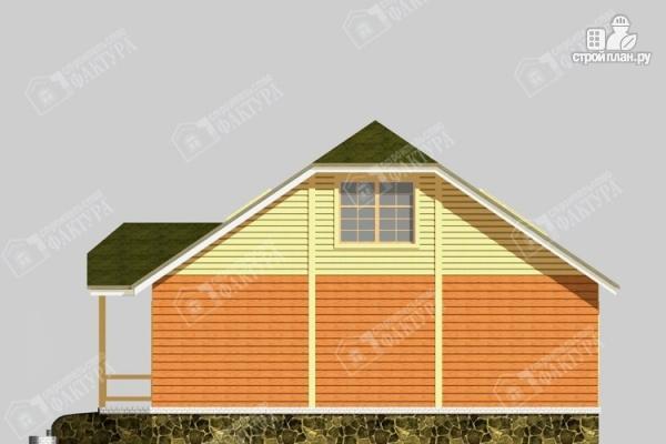 Фото 5: проект дом 10х12 из бруса с мансардой