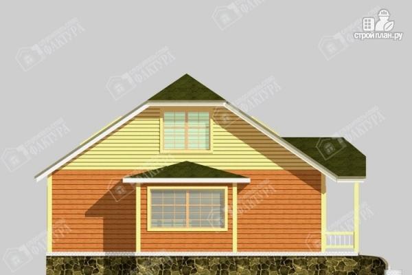 Фото 7: проект дом 10х12 из бруса с мансардой