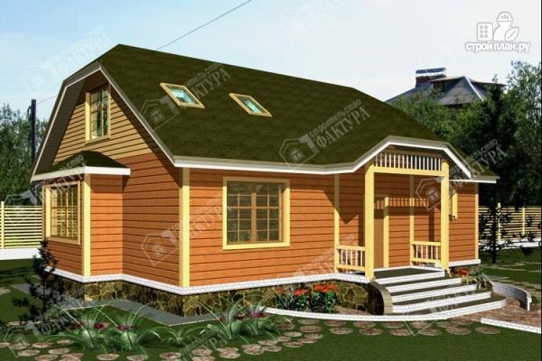 Фото: проект дом 10х12 из бруса с мансардой