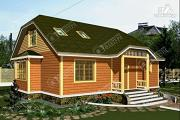 Фото: дом 10х12 из бруса с мансардой