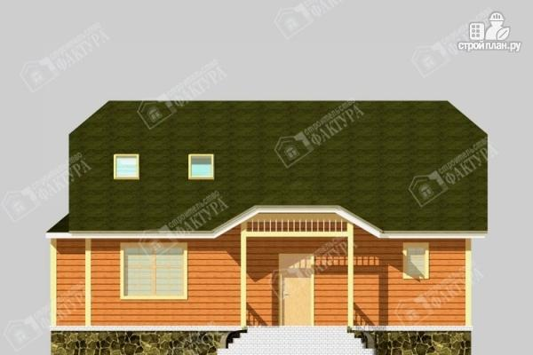 Фото 4: проект дом 10х12 из бруса с мансардой