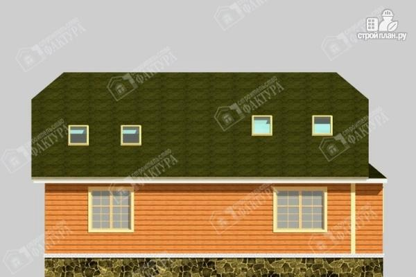 Фото 6: проект дом 10х12 из бруса с мансардой