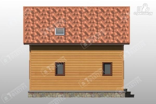Фото 7: проект дом 8х8 из бруса с террасой и балконом