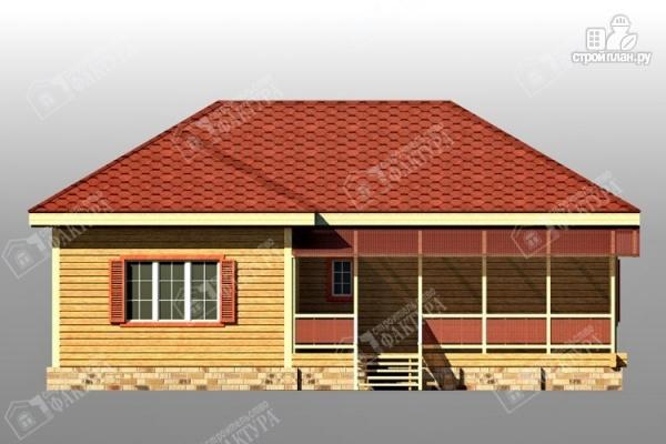 Фото 3: проект дом 11х12 из бруса с террасой