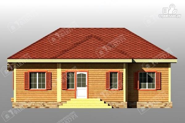 Фото 5: проект дом 11х12 из бруса с террасой