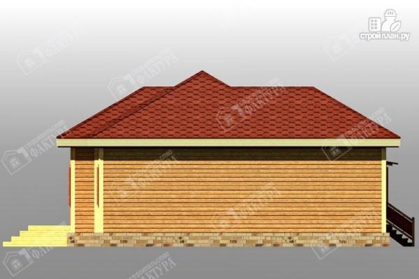 Фото 6: проект дом 11х12 из бруса с террасой
