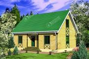 Проект брусовой дом с мансардой