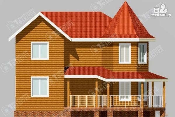 Фото 7: проект дом 7х11 из бруса с угловой верандой
