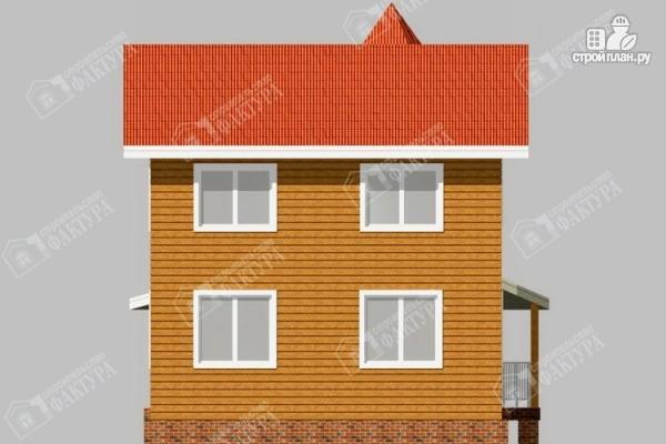 Фото 6: проект дом 7х11 из бруса с угловой верандой