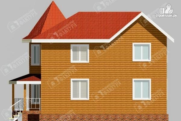 Фото 5: проект дом 7х11 из бруса с угловой верандой