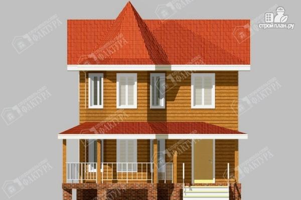 Фото 4: проект дом 7х11 из бруса с угловой верандой