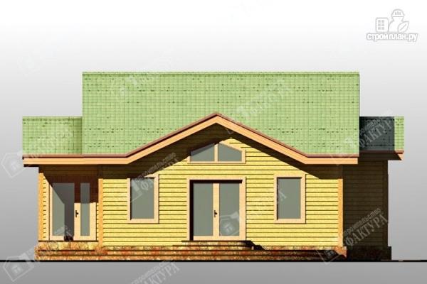 Фото 3: проект одноэтажный дом из пиленного бруса 150 мм