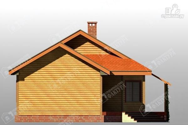 Фото 6: проект дом 9х11 из бруса с большой террасой