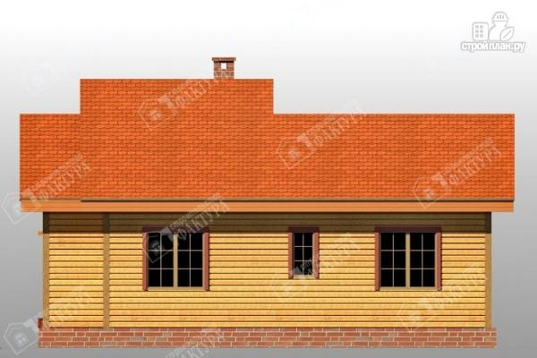 Фото 5: проект дом 9х11 из бруса с большой террасой