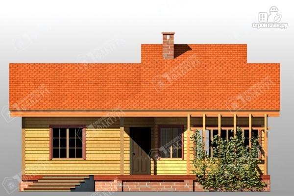 Фото 3: проект дом 9х11 из бруса с большой террасой