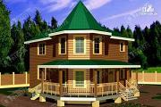 Проект брусовой дом с угловой террасой