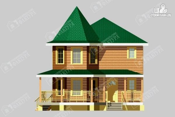Фото 4: проект брусовой дом с угловой террасой