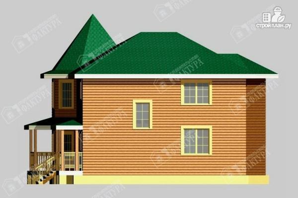 Фото 5: проект брусовой дом с угловой террасой