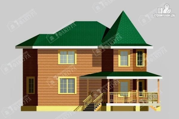 Фото 7: проект брусовой дом с угловой террасой