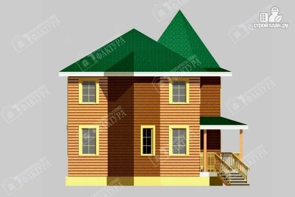 Фото 6: проект брусовой дом с угловой террасой