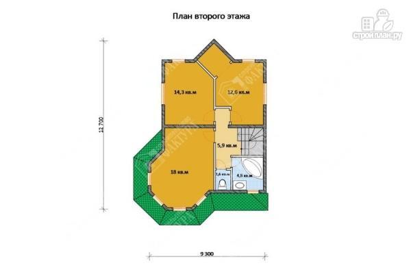 Фото 3: проект брусовой дом с угловой террасой