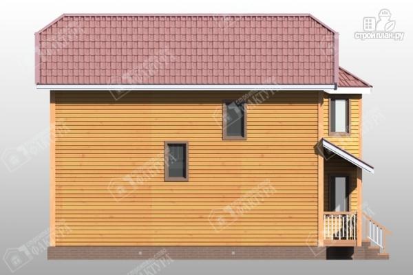Фото 7: проект двухэтажный дом из бруса для узкого участка