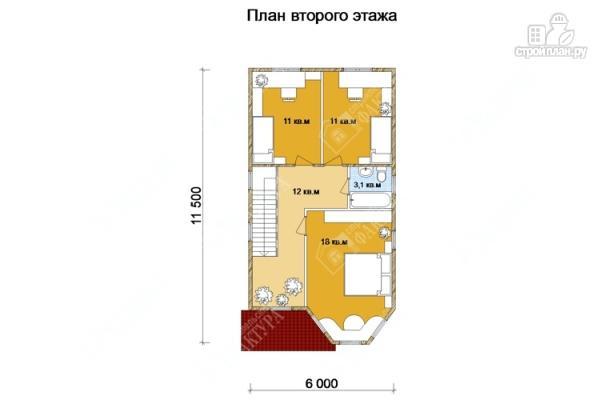 Фото 3: проект двухэтажный дом из бруса для узкого участка