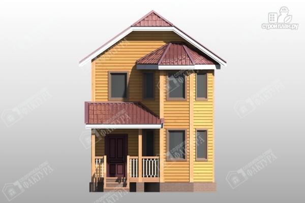 Фото 4: проект двухэтажный дом из бруса для узкого участка