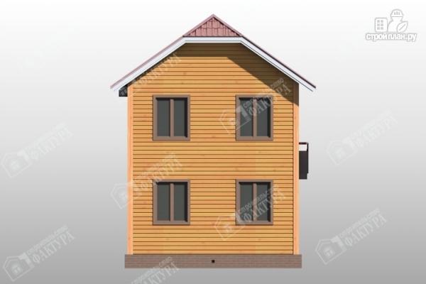 Фото 6: проект двухэтажный дом из бруса для узкого участка