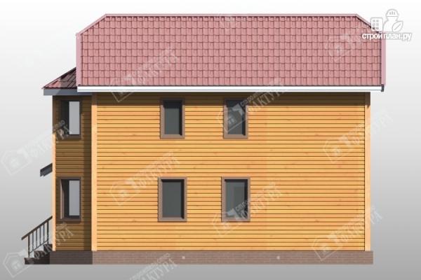Фото 5: проект двухэтажный дом из бруса для узкого участка