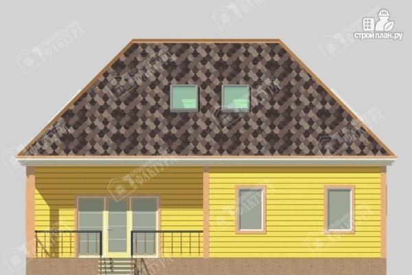 Фото 4: проект дом 11х12 из бруса с мансардой