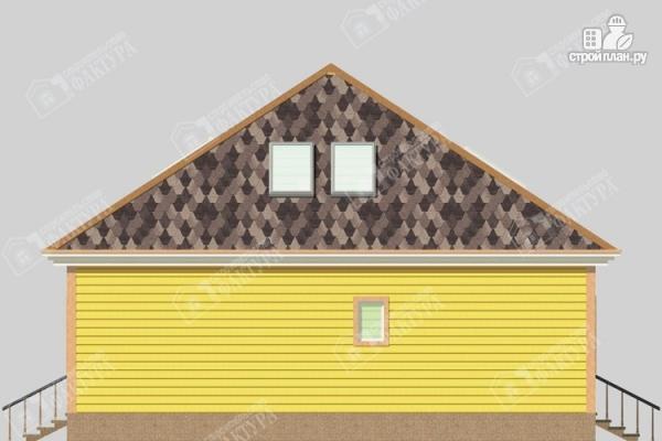 Фото 5: проект дом 11х12 из бруса с мансардой