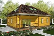 Фото: дом 11х12 из бруса с мансардой