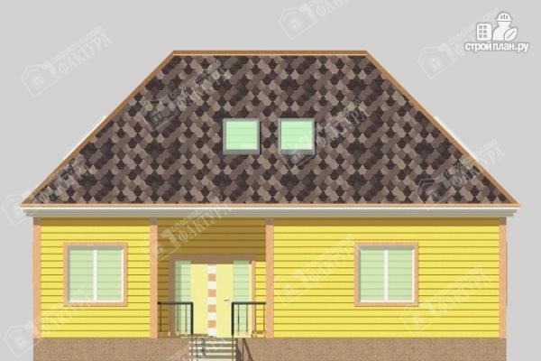 Фото 6: проект дом 11х12 из бруса с мансардой