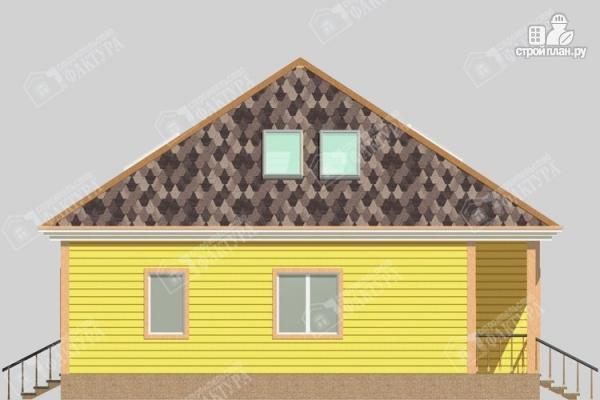 Фото 7: проект дом 11х12 из бруса с мансардой