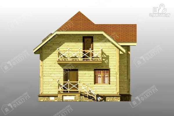 Фото 7: проект просторный дом из бруса с балконом
