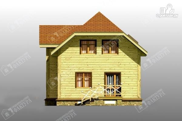 Фото 5: проект просторный дом из бруса с балконом