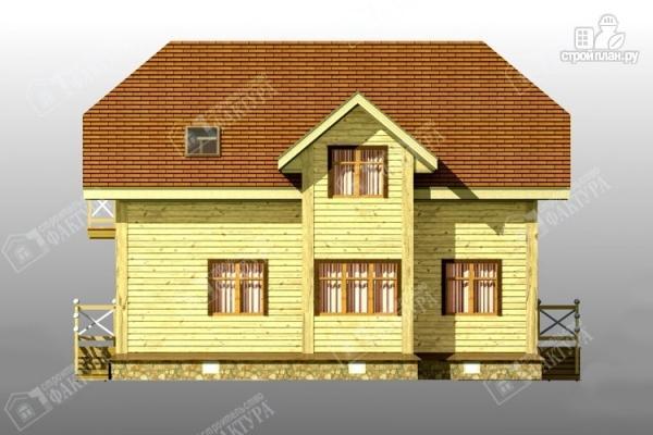 Фото 4: проект просторный дом из бруса с балконом