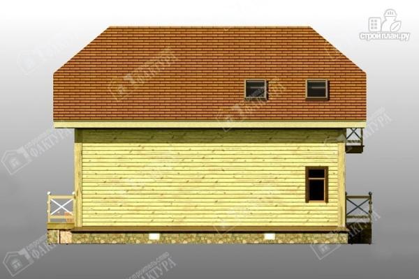 Фото 6: проект просторный дом из бруса с балконом